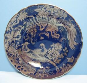 プラチナ・エイヴィス コバルトブルーの飾り皿