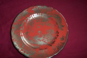 プラチナ・エイヴィス レッドの飾り皿