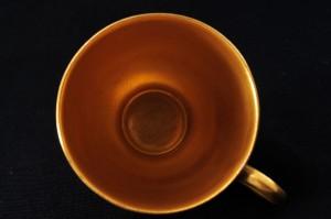 ロイヤルウースター ペインテッドフルーツ・イブシャム(evesham)ゴールド デミタスカップ&ソーサー