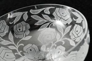フランスのバカラ(baccarat)グラス ローズ(rose)クープグラス