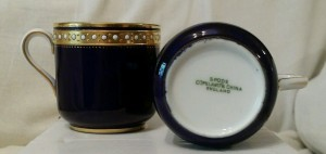 スポードのコバルトのカップ&ソーサー