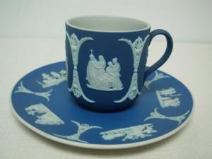 ウェッジウッドジャスパーのカップ&ソーサー