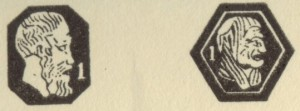 フランスシルバーのホールマーク 右向き横顔(950/1000)