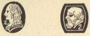 フランスシルバーのホールマーク(左向き横顔)(800/1000)