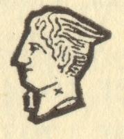 フランスシルバーのホールマーク 左向き横顔(950/1000)マーキュリー