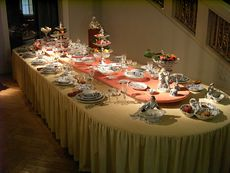 マイセン ブルーオニオンのテーブルコーディネート