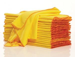 シルバー製品を拭く柔らかい布