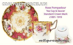 Coalport-Rose-Pompadour-Cup-Saucer-c1891-1919