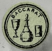 オールドバカラ(baccarat) 紙のマーク(シール)、サイン、刻印