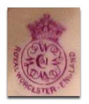 ロイヤルウースター royal worcesterのマーク1891