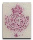 ロイヤルウースター royal worcesterのマーク1919-1