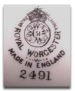 ロイヤルウースター royal worcesterのマーク1956