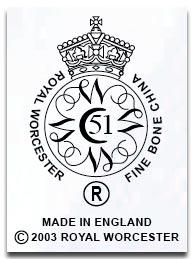 ロイヤルウースター royal worcesterのマーク2003