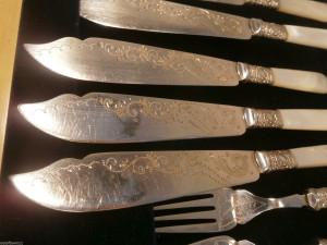 イギリス製シルバーカトラリーのナイフ