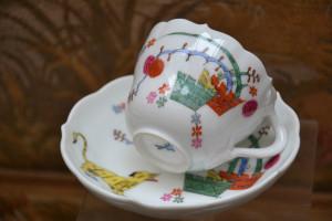 マイセン 竹虎のカップ&ソーサー