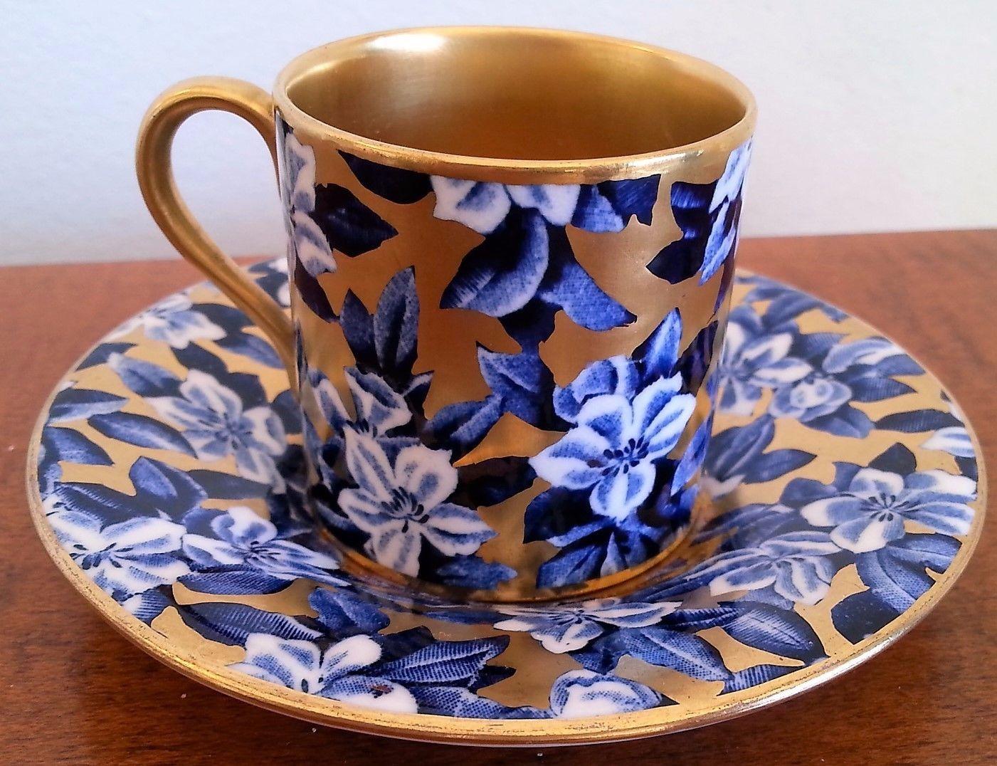 コールポート 花柄のカップ&ソーサー