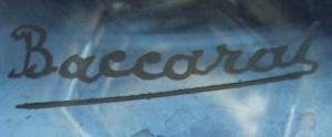 オールドバカラ(baccarat) のサイン、刻印