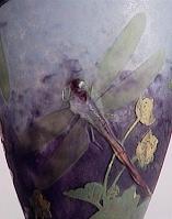 ドーム兄弟のトンボの装飾の花瓶
