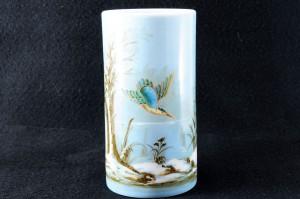 バカラ オパークリンクリスタルの小鳥の花瓶