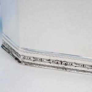 ジョージ5世スタイル スターリングシルバー製 3ピースのティーセットのロココ模様