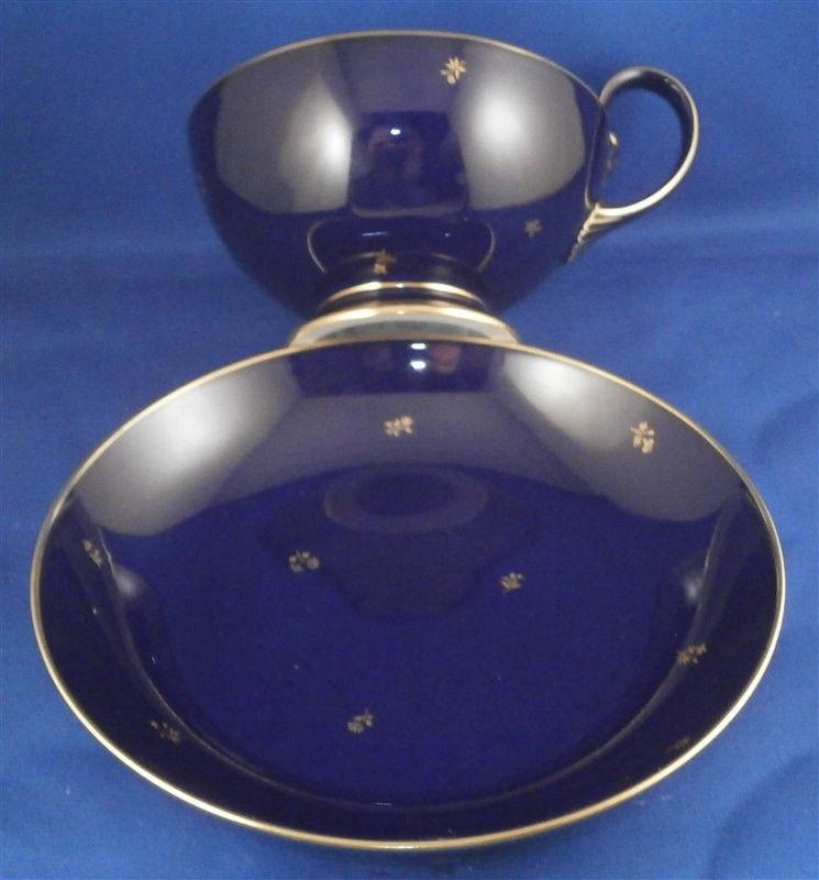 フランス陶磁器 セーブル カップ&ソーサー「コバルトブルー」