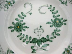 マイセン(meissen)インドの華グリーンのカップ&ソーサー