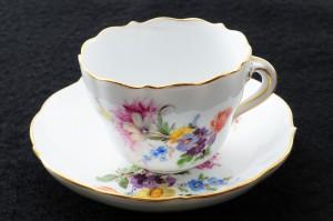 マイセン5つ花のコーヒーカップ&ソーサーセット