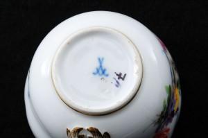 マイセン5つ花のコーヒーカップ&ソーサーセットのマーク