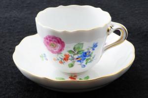 マイセン(meissen)3つ花のブルーム カップ&ソーサー