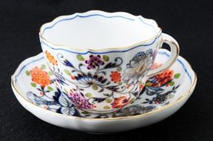 マイセン(meissen)カラーオニオンのカップ&ソーサー