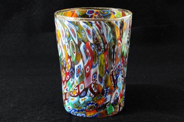 ベネチアングラス(ムラノガラス)ヴェネチアのミルフィオリタンブラー