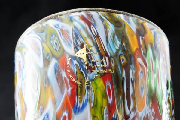 ベネチアングラス(ムラノガラス)ヴェネチアのミルフィオリ花瓶のマーク