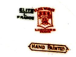 リモージュのマーク(刻印、バックスタンプ)limoges-elite-l-france-mark