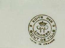 リモージュのマーク(刻印、バックスタンプ)limoges-gout-de-ville-mark