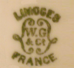 リモージュのマーク(刻印、バックスタンプ)1891-1932年代 limoges-w-guerin-9132