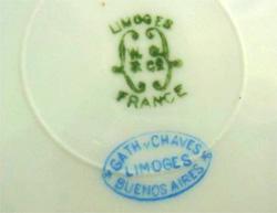 リモージュのマーク(刻印、バックスタンプ) limoges-w-guerin-mark-9132