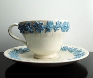 ウェッジウッドのカップ&ソーサー ラベンダーブルー