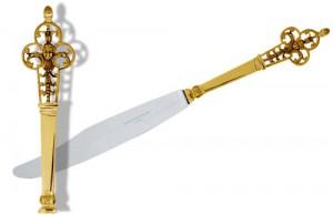 カルディヤックのルネッサンス紋様の18Kナイフ