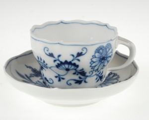 マイセン MISSENブルーオニオン(カラーオニオン)のカップ&ソーサー食器
