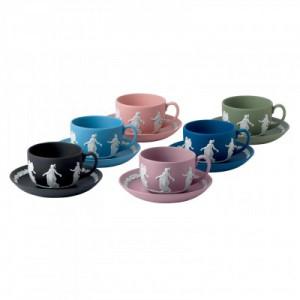 ウェッジウッドジャスパーのカップ&ソーサー6種類