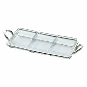 ガラス器(3皿)スナックサーバ