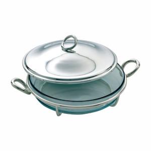 蓋つきラウンド型グラタン皿
