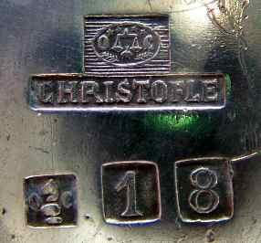 クリストフルシルバーの初期の刻印