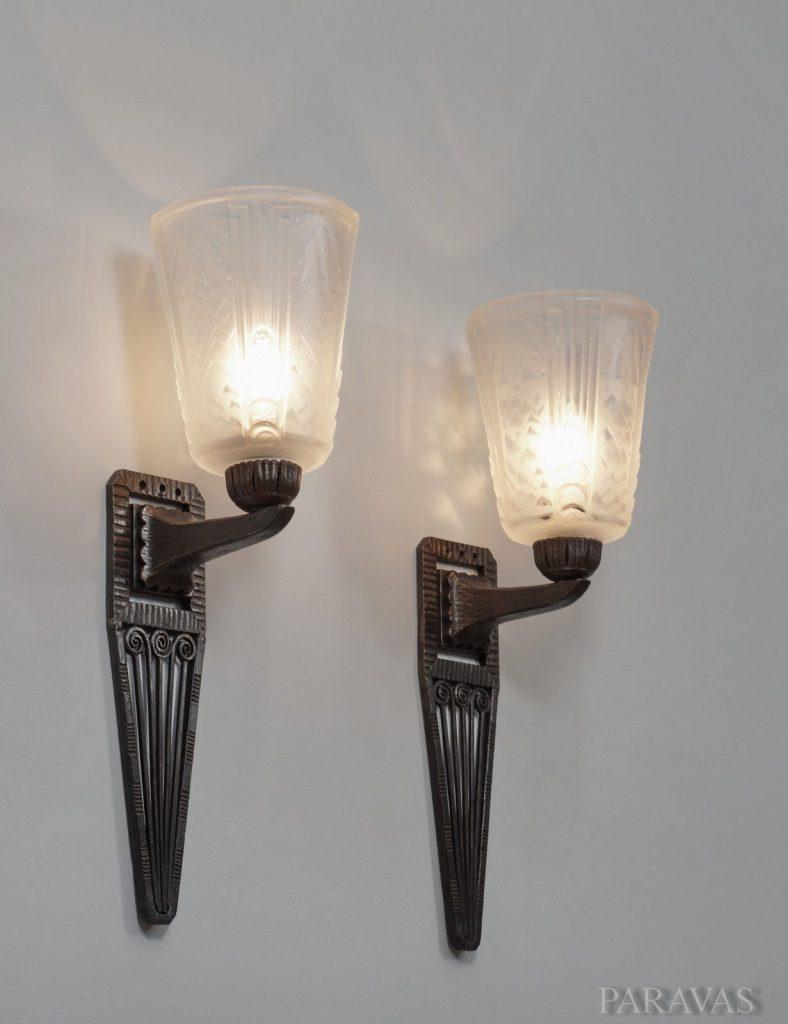 ミューラー兄弟(Muller Freres Luneville) ウォールランプ アンティーク照明・ランプ