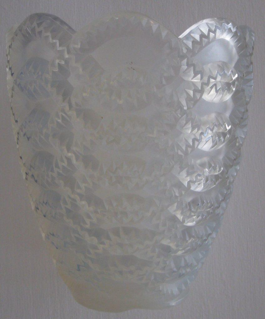ルネ・ラリック ギルランド  オパルセントガラス花瓶 1935年代