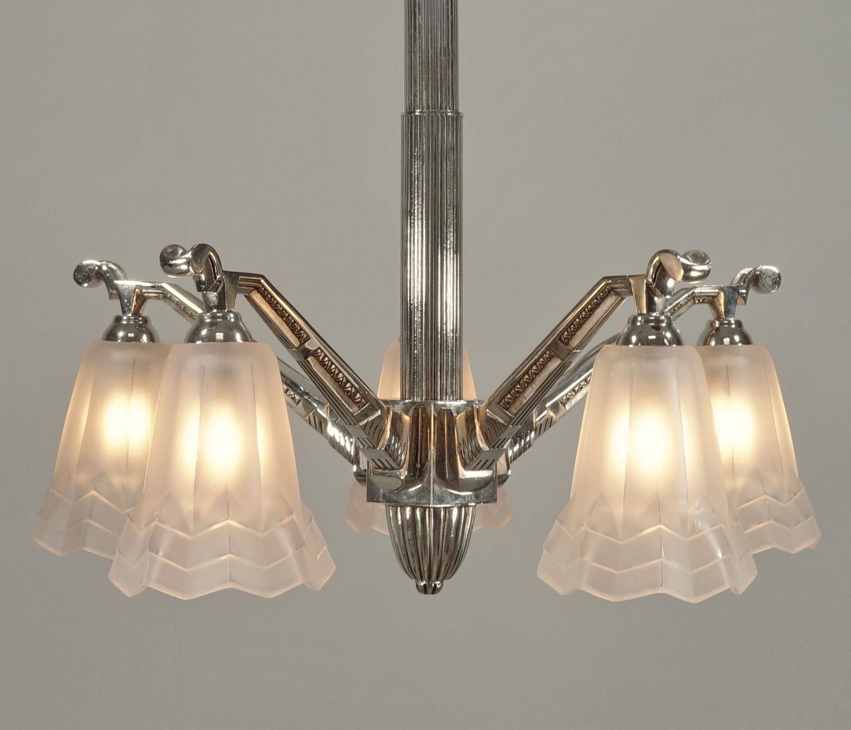 ドュゲ(Degue)5灯シャンデリア アンティーク照明・ランプ