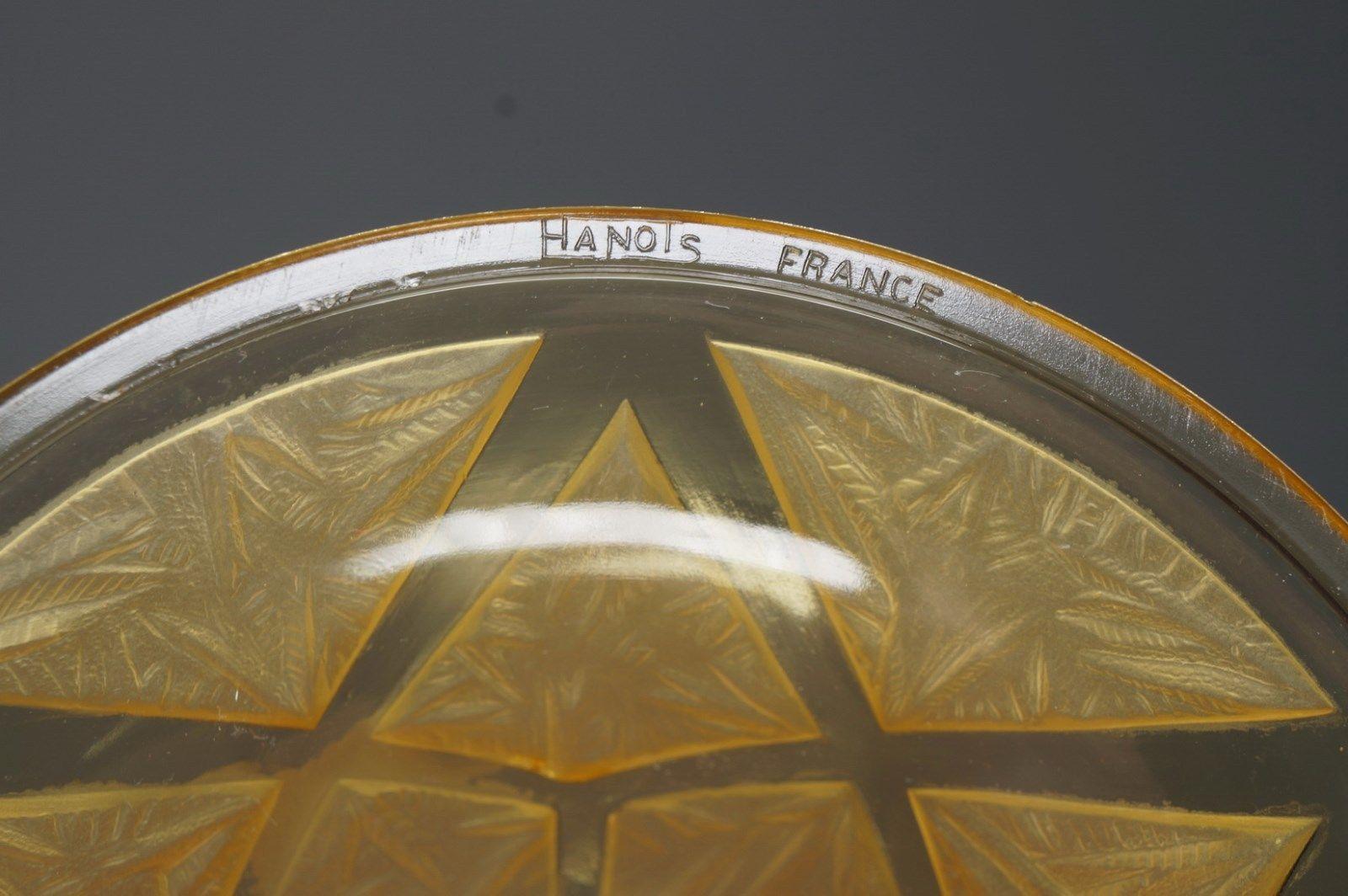 Verreries des Hanots 6灯シャンデリア アンティーク照明