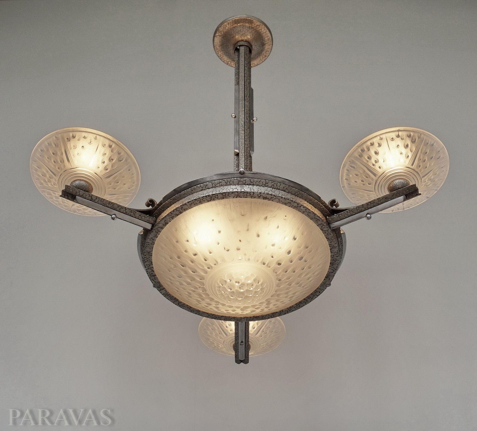 ミューラー兄弟(Muller)4灯シャンデリア アティーク照明