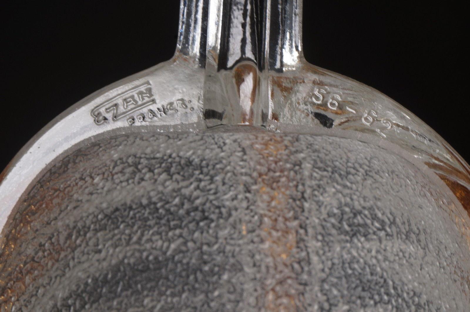 プティトー 金彩と磨りガラスのウォールランプ ペアセットのサインezan