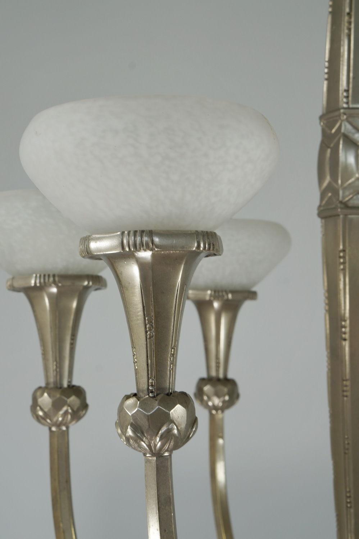 フランスのガラス工芸家 シュナイダー兄弟 6灯シャンデリアのシェード